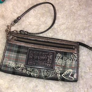 Coach Poppy Plaid Wallet Purse, Good used Cond